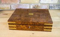 Burr Walnut Jewellery Box C.1840 Queens Appointment