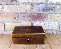 Burr Yew Jewellery Box c.1820