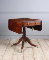 Regency Mahogany Pedestal Pembroke Table