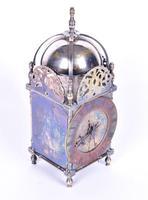 Edwardian Silver Plated Lantern Clock (3 of 4)