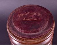 Tobacco Jar in Turned Mahogany c.1920 (2 of 4)