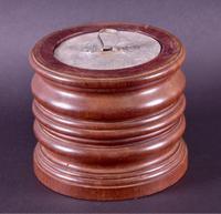 Tobacco Jar in Turned Mahogany c.1920 (3 of 4)