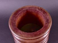 Tobacco Jar in Turned Mahogany c.1920 (4 of 4)