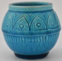 Small Burmantofts Pottery Vase 'Leeds Yorkshire'