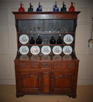 North Wales Georgian Oak Cupboard Base Dresser