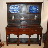 Late 18th Century Oak Silhouette Legged Potboard Dresser