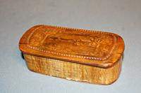 Unusual 19th Century Wooden Snuff Box