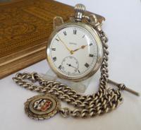1930s Silver Vertex Pocket Watch & Albert