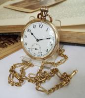 1930s Cyma Pocket Watch & Chain
