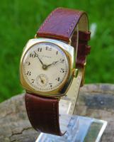 Gents 9ct Gold Cyma Wrist Watch, 1938