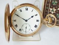 1920s Semloh Full Hunter Pocket Watch by Cyma