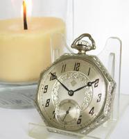 1930s Art Deco Cyma Pocket Watch
