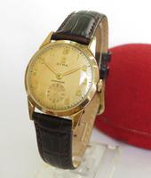 Gents 9ct Gold Cyma Wrist Watch, 1956