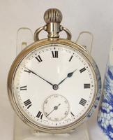 1920s Silver Terminus Pocket Watch by Tavannes Watch Company