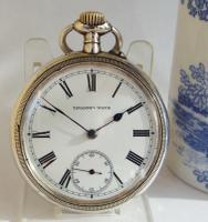 Unusual Antique Silver Borgel Cased Tavannes Pocket Watch