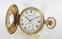 1930s Vertex Half Hunter Pocket Watch (2 of 5)
