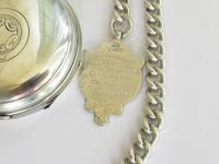 Large Antique the Eldon Lever Pocket Watch & Chain (5 of 6)