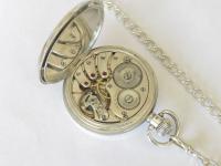 Antique Silver Buren Pocket Watch & Albert (3 of 5)