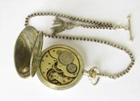 Silver La Heutte Pocket Watch by Goschler & Cie (2 of 4)