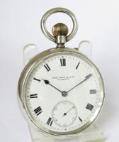 Antique Silver Rotherhams Pocket Watch (2 of 5)
