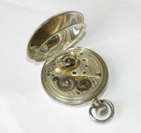 Antique Silver Stockmar Half Hunter Pocket Watch (5 of 6)