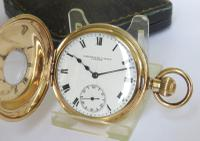 1901 Waltham Half Hunter Pocket Watch For Schierwater & Lloyd (2 of 5)