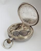 1920s Buren Imperial Silver Stem Winding Pocket Watch (4 of 5)