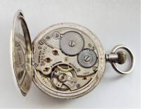 1920s Buren Imperial Silver Stem Winding Pocket Watch (5 of 5)