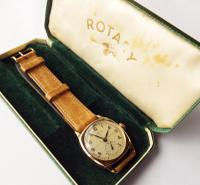 Gents Gold Rotary Super Sports Watch, Boxed 1946