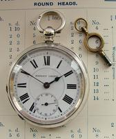 Antique 1880s 'Patent Lever' Silver Pocket Watch