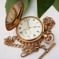 Syren Full Hunter Pocket Watch and Chain, with History