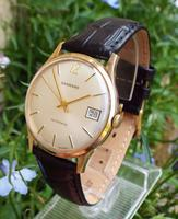 Gents 9ct Gold Garrard Watch, From Rolls Royce