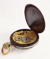 Antique Gun Metal Cyma Pocket Watch (2 of 5)