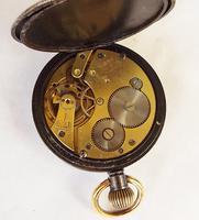 Antique Gun Metal Cyma Pocket Watch (4 of 5)