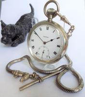 1930s Vertex Pocket Watch with Unusual Dog Albert