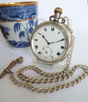 1919 Silver Cyma Pocket Watch by Tavannes