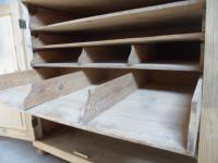 Rare Victorian Antique Pine 2 Door 6Slide Industrial / Shop Fitting Cupboard (11 of 11)