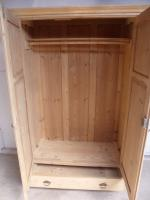Lovely Antique Pine 2 Door Knockdown Wardrobe to Wax / Paint (7 of 9)
