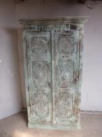 Handmade Indian Mango & Teak Large Painted Shabby Chic 2 Door Storage Cupboard (4 of 11)