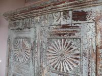 Handmade Indian Mango & Teak Large Painted Shabby Chic 2 Door Storage Cupboard (7 of 11)