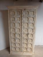 Handmade Indian Mango & Teak Large Painted Shabby Chic 2 Door Storage Wardrobe (4 of 13)