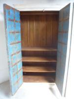 Handmade Indian Mango & Teak Large Painted Shabby Chic 2 Door Storage Wardrobe (10 of 13)