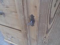 Victorian 1 Door 3 Drawer Antique Pine Kitchen / Storage Cupboard to wax / paint (9 of 13)
