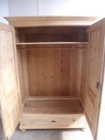 Quality Cottage Low Antique Pine Knockdown Wardrobe to wax / paint (9 of 11)