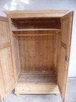 Stunning Deep 2 Door Antique Pine Knockdown Wardrobe to wax / paint (9 of 11)