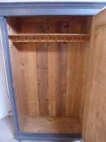 Superbly Painted Early Victorian Antique Pine Hall Wardrobe to wax / paint (9 of 11)