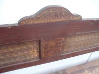Large Originally Painted Victorian Antique Pine Kitchen Box / Settle / Bench (9 of 10)