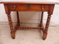 Top Quality Bobbin Turned 1 Drawer Cherrywood Side Table (7 of 11)