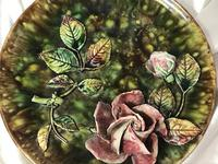 Antique Art Nouveau French Porcelain High Relief Rose Foliage Wall Plate Plaque (27 of 36)