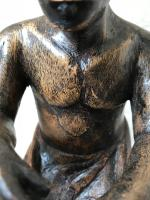 Pair of Small Vintage Tribal Men Dancing African Ethnographic Warrior Statues (4 of 24)